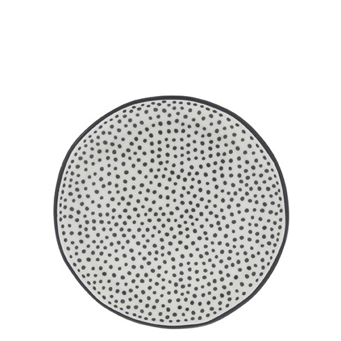 Bastion Collections Teller / Cake Plate Little Dots in Black