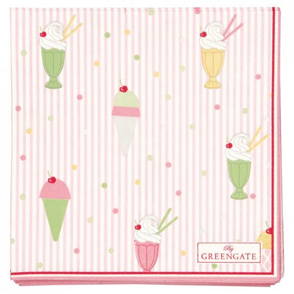 GreenGate Kleine Papierserviette Isa Pale Pink