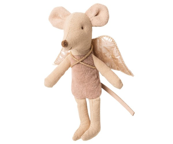 Maileg, Fairy Mouse, little sister, Dunkel-Rosé