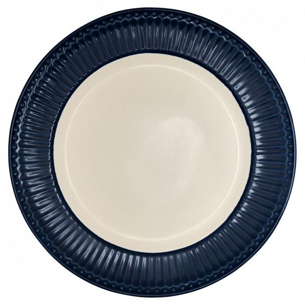 GreenGate Essteller / Dinnerplate, Alice Dark Blue