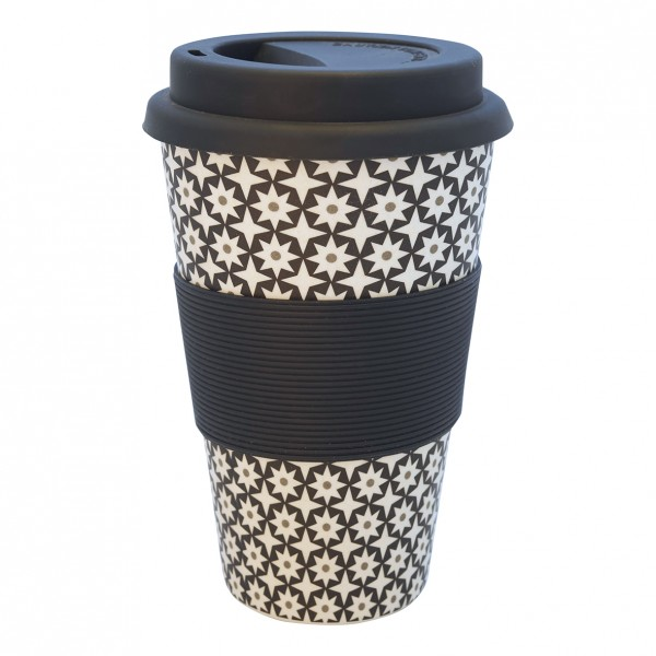 GreenGate Bambus Travel Mug Lara Black