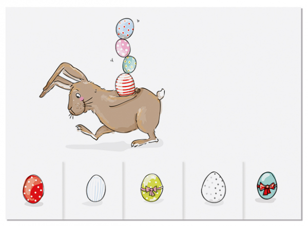 Krima & Isa Postkarte Eier zum Mitnehmen (Eierhase)