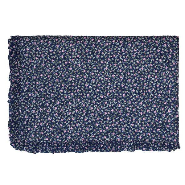 GreenGate Quilt / Bed Cover Berta Dark Blue w frill