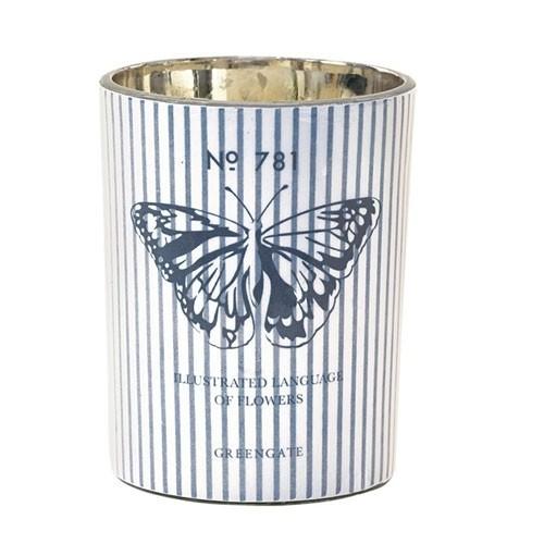 Greengate Kerze Butterfly, Vanilleduft