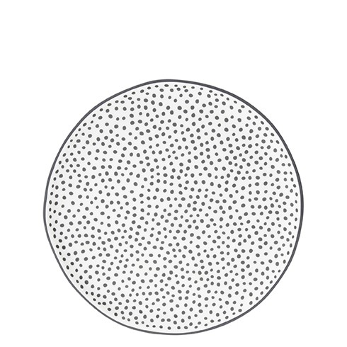 Bastion Collections Teller / Dessert Plate Little Dots in Black