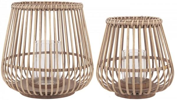 Ib Laursen Bambuswindlicht im 2er Set
