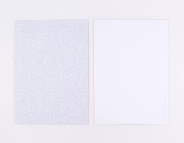 Perlenfischer Postkarte Wilde Punkte, grau
