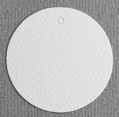 Perlenfischer Geschenkanhänger / Tags 50 mm, 10 Stück, cremeweiß