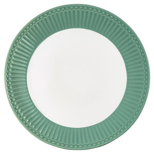 GreenGate Teller / Plate, Alice Dusty Green