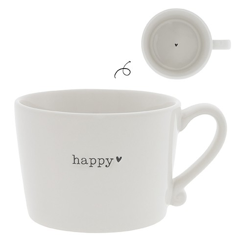 Bastion Collections Cup White / Happy in Black