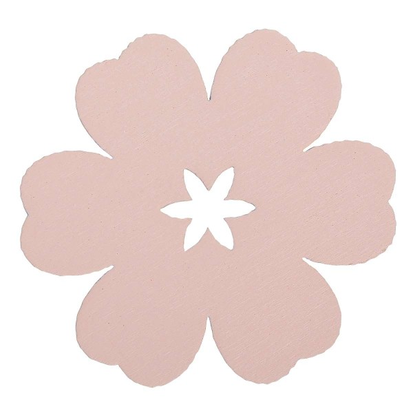 "Ib Laursen Geschenkanhänger ""Holzblume"", rosa"