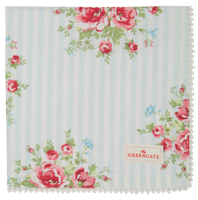 GreenGate Ltd. Edition Stoffserviette Nellie pale blue