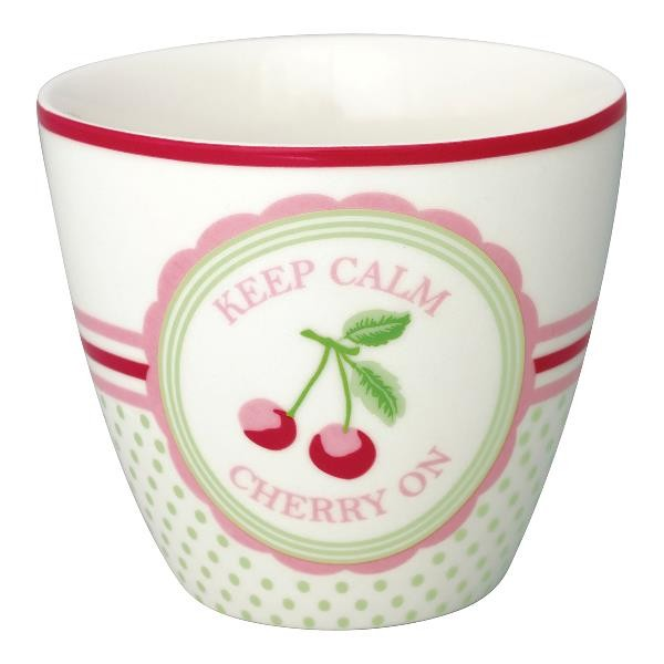 Greengate Latte Cup Cherry mega white