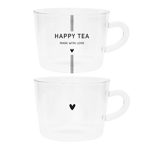 Bastion Collections Tumbler / Teetasse Schriftzug Happy Tea / Herz