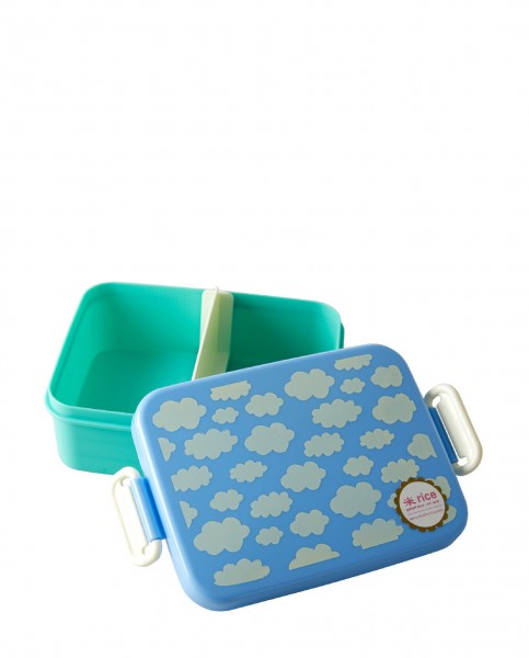 Rice Lunchbox Blue Cloud Print