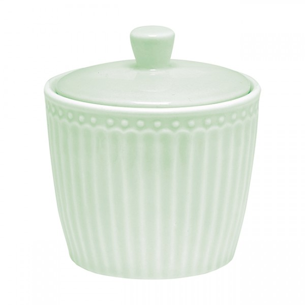 GreenGate Zuckerdose / Sugar Pot, Alice Pale Green