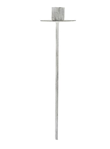 Spiess (lang) für dünne Kerze, weiß