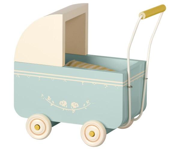 Maileg Puppenwagen / Pram Micro, blue