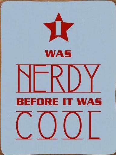 """Metallschild """"I was nerdy"""""""