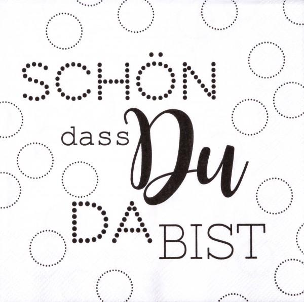 """Räder Papierserviette """"Schön dass du da bist"""""""