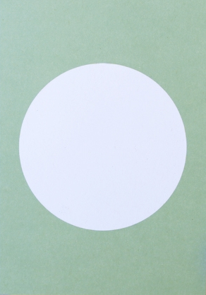 Perlenfischer Postkarte Kreis Pastell Grün