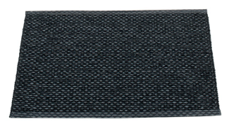 Pappelina Kunststoffteppich SVEA, black, 50 x 70 cm