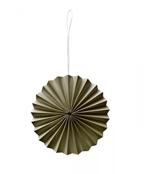 Papier-Ornament, Moosgrün