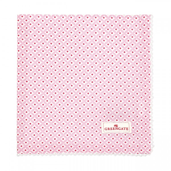 GreenGate Stoffserviette Noa Raspberry