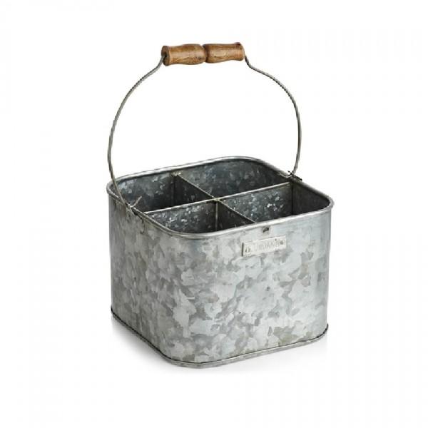 Humdakin Zinkeimer Iron Bucket, quadratisch