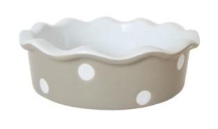 Kleine Auflaufform/Pie dish mini, Beige with Dots
