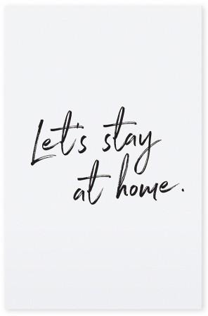 "Tafelgut, Karte ""Let's stay at home"""