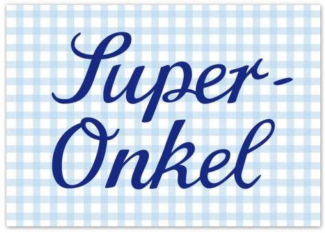 Krima & Isa Postkarte Super Onkel