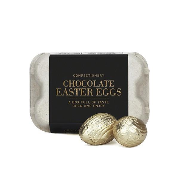 Schoko-Ostereier Gold Box, Vollmilchschokolade/Nougatfüllung