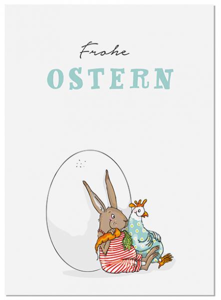Krima & Isa Postkarte Eierpause