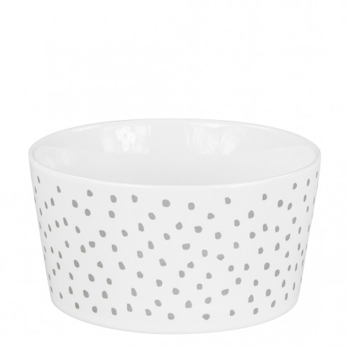 Bastion Collections Schale / Bowl 13,5cm White / Little Dots in Grey