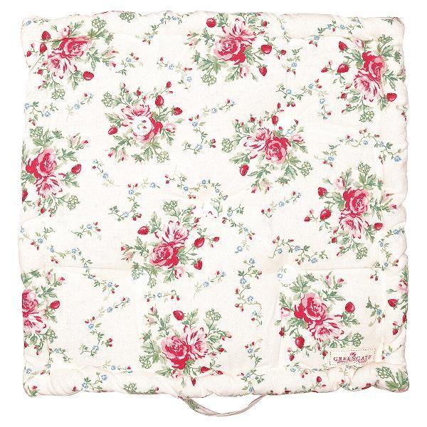 Greengate Sitzkissen / Box Cushion Mary White 50x50 cm
