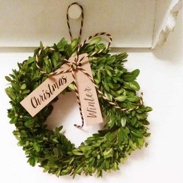 Anhänger Winter / Christmas, Kraftkarton