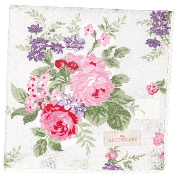 GreenGate Stoffserviette Rose white