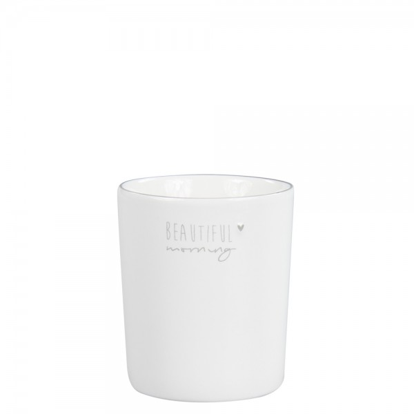 Bastion Collections Becher / Mug White/Beautiful Morning in Grey