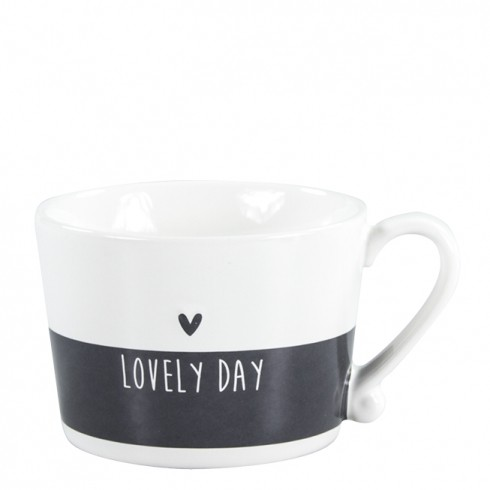 Bastion Collections Mug White/Black Lovely Day