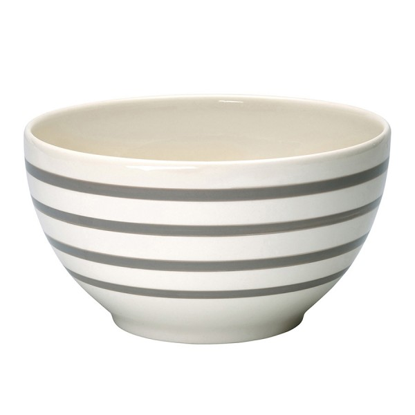 Greengate Schale / Serving Bowl Slim Stripe Warm Grey