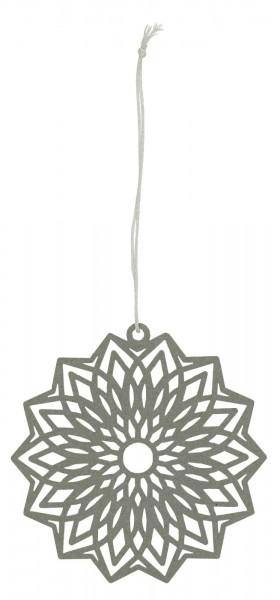 Ib Laursen Scherenschnitt Blume Grau, klein