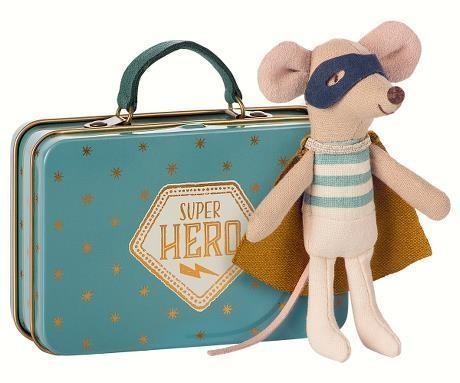 Maileg Schutzengel Maus im Köfferchen, Super Hero