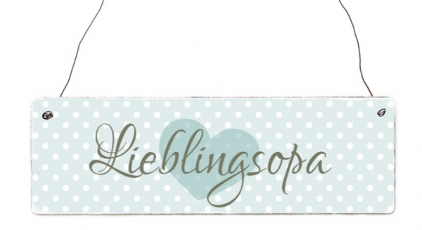 """Holzschild """"Lieblingsopa"""""""