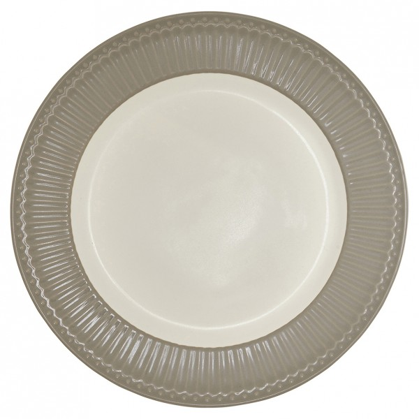 GreenGate Essteller / Dinnerplate, Alice Warm Grey