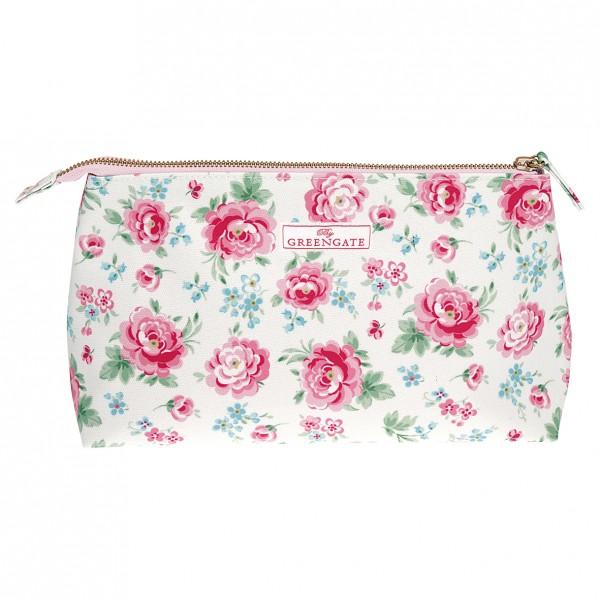 Greengate Kosmetiktasche Cosmetic Bag Meryl white, groß