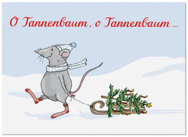 Krima & Isa Postkarte O Tannenbaum