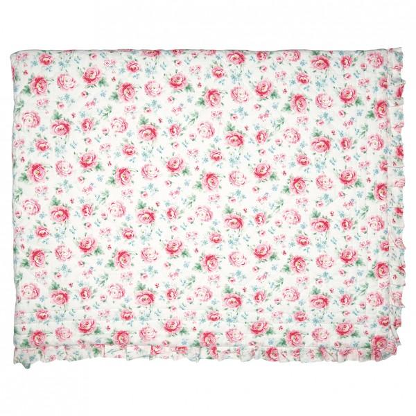 GreenGate Kleiner Quilt / Bed Cover Meryl White, 140 x 100 cm