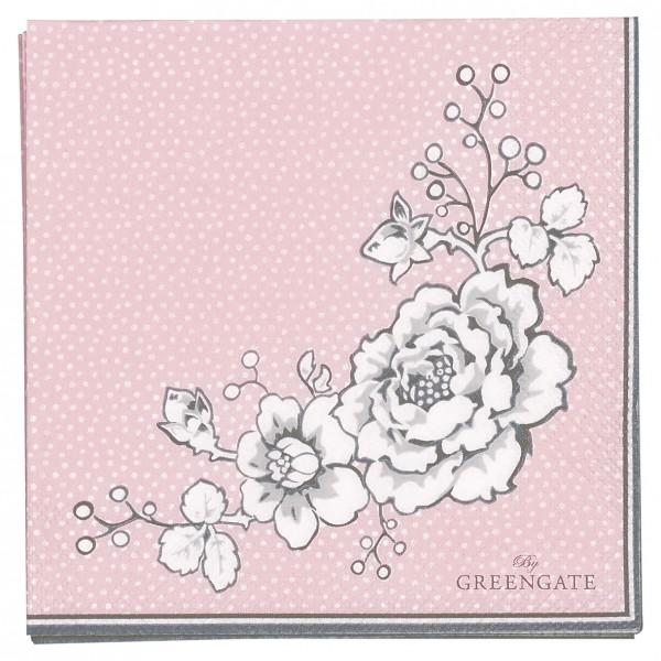 GreenGate Kleine Papierserviette Ella Pale Pink