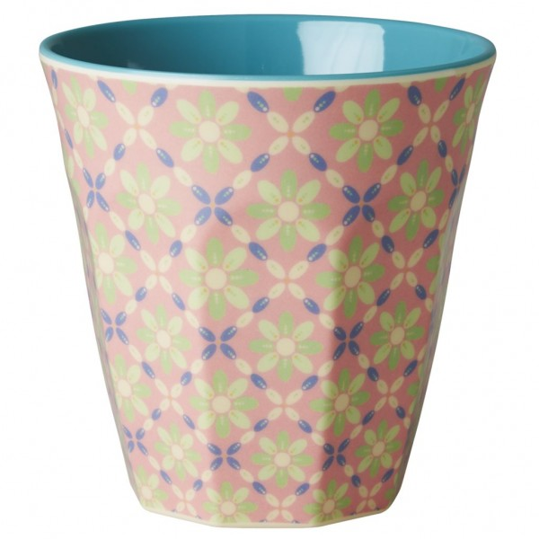 Rice Melamin Becher, Flower Tile Print